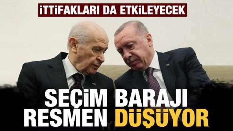AK Parti ve MHP uzlaştı! Seçim barajı düşüyor!
