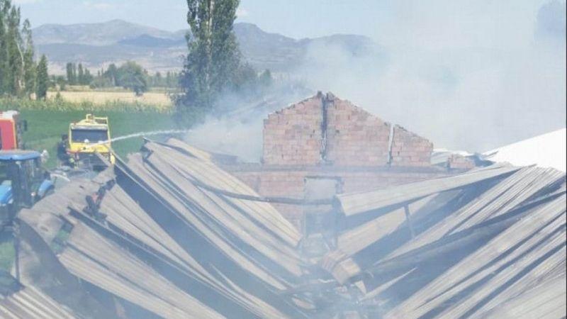 Konya'da besihanede yangın