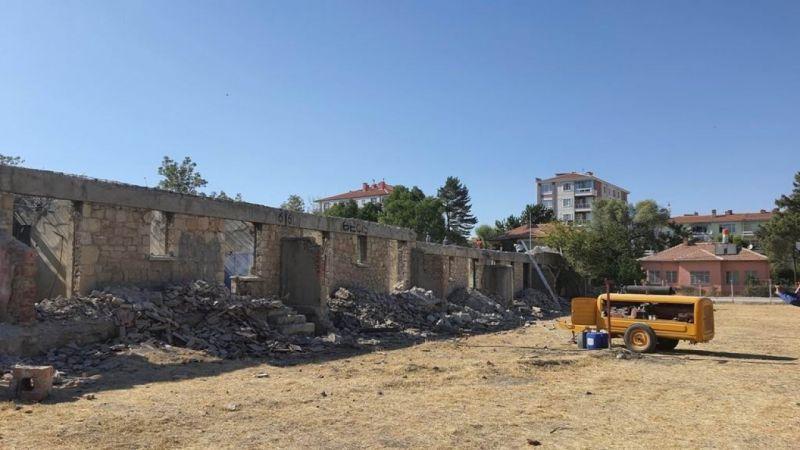 Ereğli'de Taş Evler restorasyon çalışmaları sürüyor