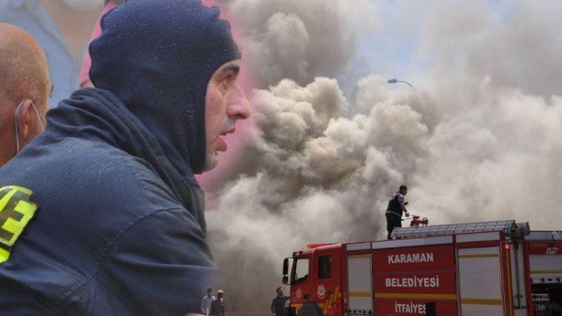 Karaman'daki depo yangını güçlükle kontrol altına alındı