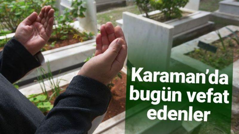 20 Ağustos Karaman'da vefat edenler