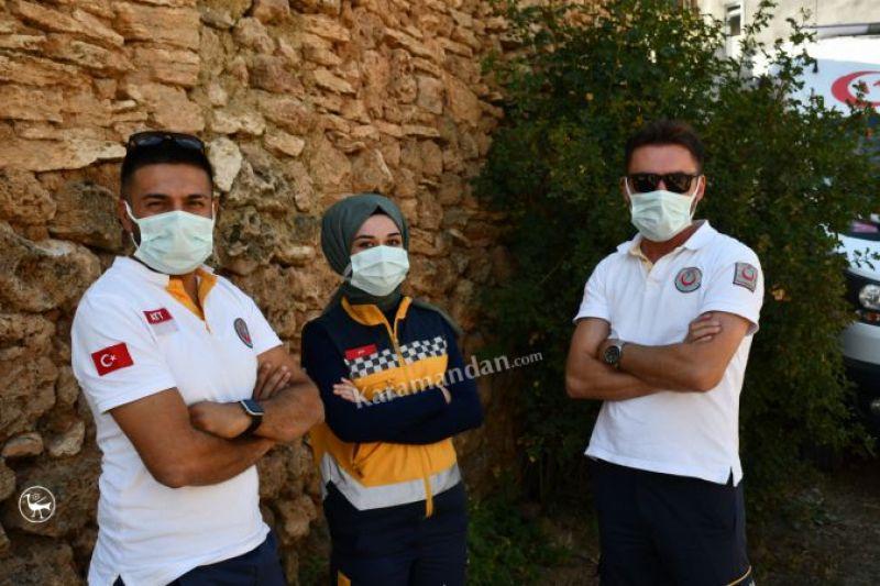 Karaman'da aşı ekipleri Kovid-19 salgınıyla mücadeleyi köy köy dolaşarak sürdürüyor