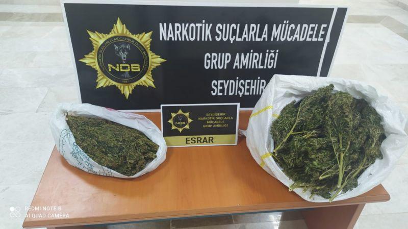 Konya'da uyuşturucu operasyonlarında yakalanan 37 zanlıdan 11'i tutuklandı