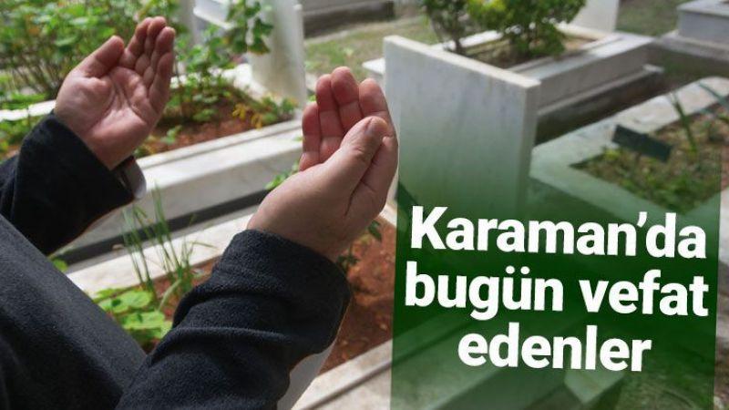 25 Ağustos Karaman'da vefat edenler