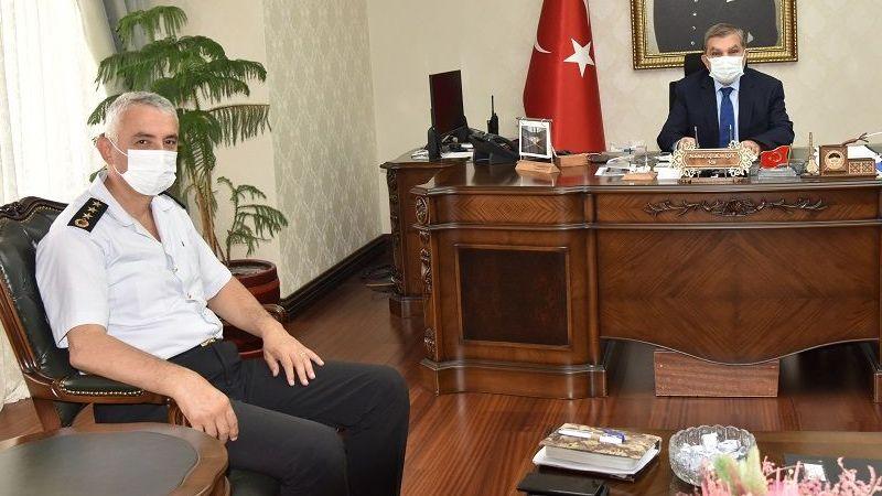 Karaman Jandarma Komutanı Çetinkaya'dan Vali Işık'a Ziyaret