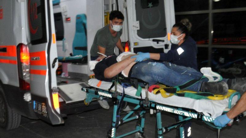 Ehliyetsiz ve kasksızYunus'unmotosiklet kazasında kulağı koptu