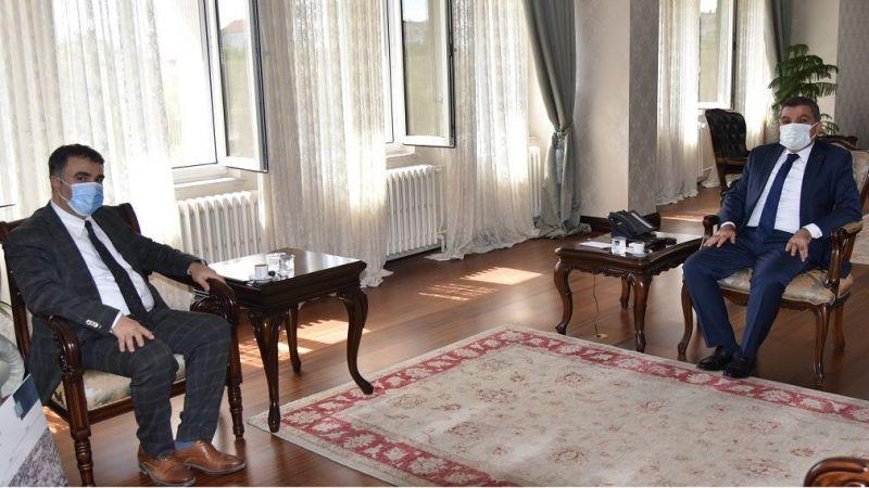 Konya Vakıflar Bölge Müdürü Osmanlı'dan Vali Işık'a Nezaket Ziyareti