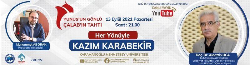 KMÜ Youtube canlı yayınında 'Kazım Karabekir Paşa' konuşulacak