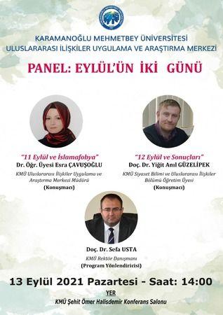 """KMÜ """"Eylül'ün İki Günü"""" temalı panel düzenleyecek"""