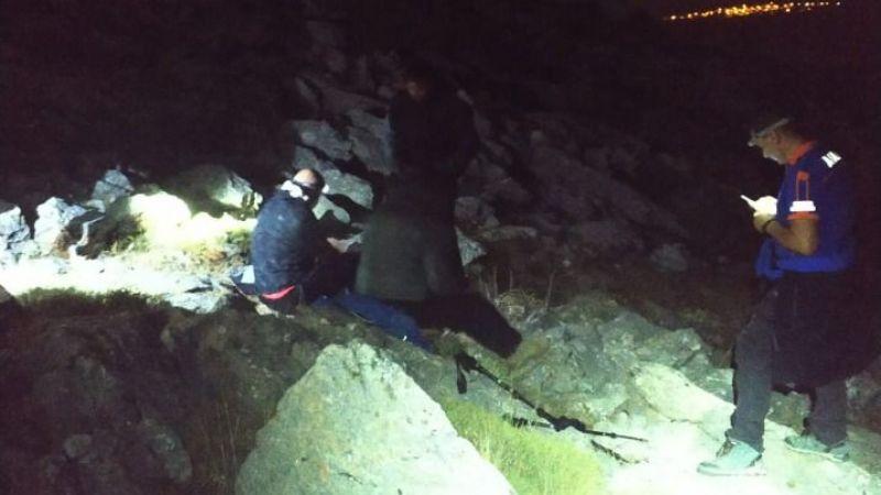 Karaman'da 6 saat mahsur kalan dağcıyı AFAD kurtardı