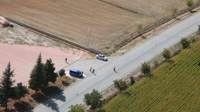 Konya'da jandarma helikopter destekli trafik denetimi yaptı