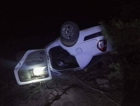 Otomobil şarampole devrildi! 1 ölü