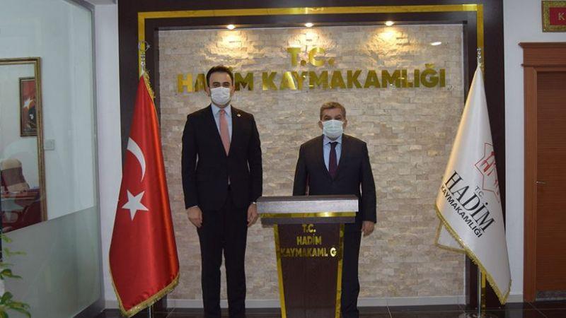 Hadim Kaymakamı Mehmet Ali İmrak'a Hayırlı Olsun Ziyareti