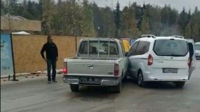 Karaman'daki kazada hava yastıkları can kurtardı