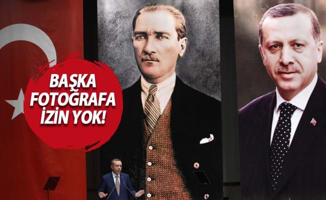 AK Parti binalarında sadece iki fotoğraf olacak