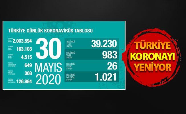 30 Mayıs 2020 korona tablosu