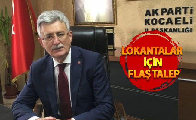 AK Parti Kocaeli'de lokantaların açılmasını istiyor