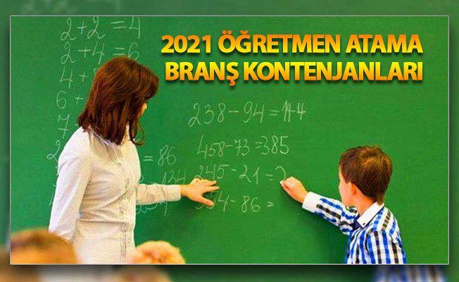 2021 öğretmen atamaları branş kontenjanları, Öğretmen atama takvimi