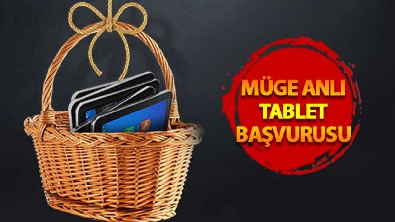 Müge Anlı tablet başvurusu, Müge Anlı ücretsiz tablet başvuru ekranı