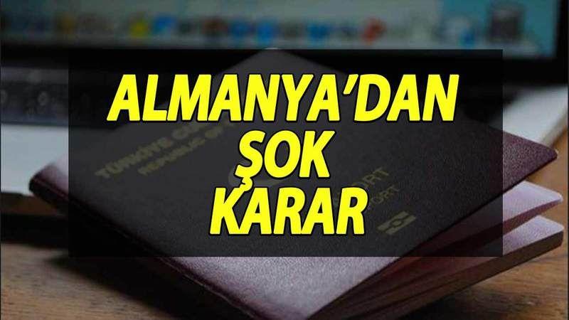 Almanya'dan Şok Türkiye Kararı! Türkiye'ye Gitmeyin Dediler! Türklerin Almanya'ya Girişine Kısıtlama… Almanya Ne Yapmaya Çalışıyor?