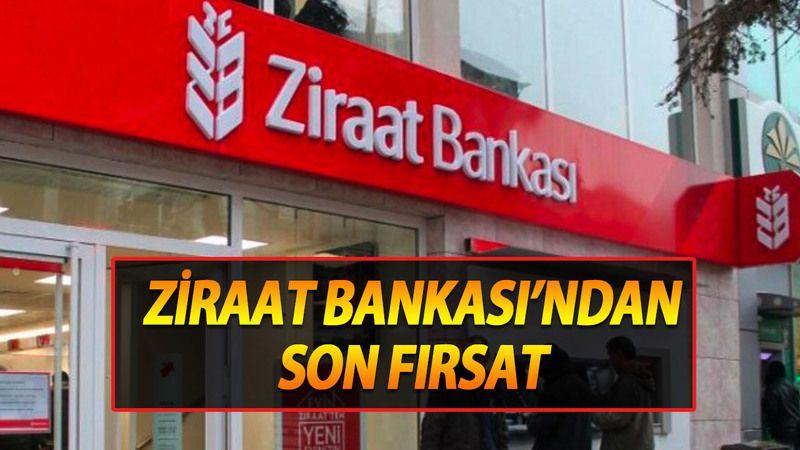 Ziraat Bankası resmen duyurdu, 100 Bin TL kredi veriyorlar! Bu son fırsat…