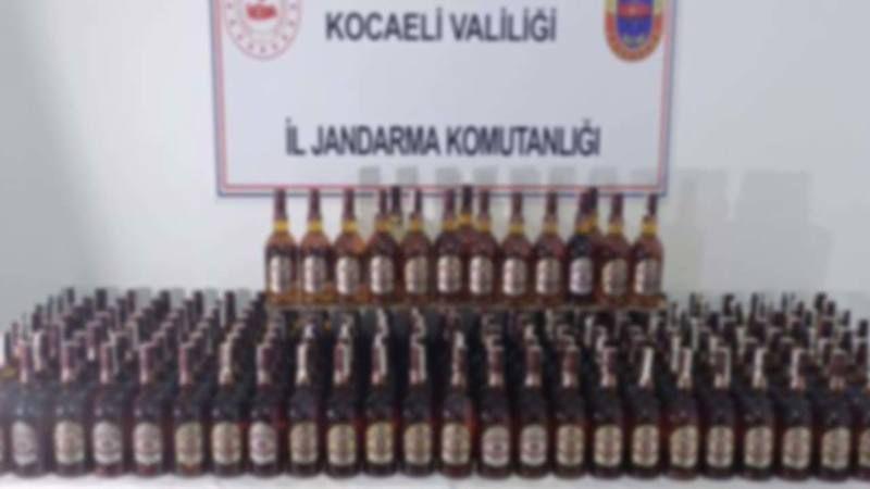 Gebze'de Sahte İçki Ele Geçirildi! Jandarmanın Şüphesi Haklı Çıktı