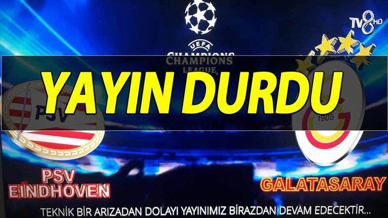 Galatasaray PSV TV8 Maç Yayını Donuyor! TV8 Maç Yayını Neden Yok? TV8 Yayın Sorunu Ne Zaman Düzelecek? TV8 Boykot!