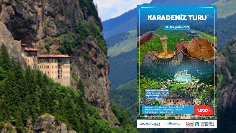 Acarlar Turizm Karadeniz Turu: 4 Gece Konaklamalı, Otelde Sabah Kahvaltısı, Profesyonel Rehber Her Şey Dahil Şok Fiyat 1.500 TL