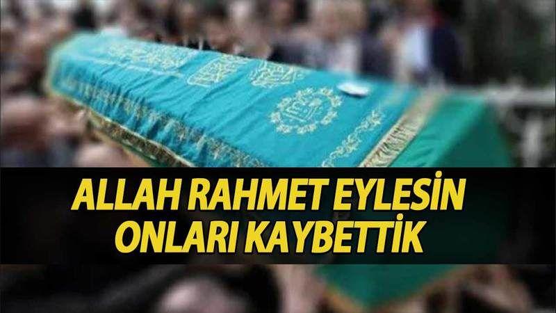 Kocaeli'de bugün vefat edenler (28 Ağustos 2021)