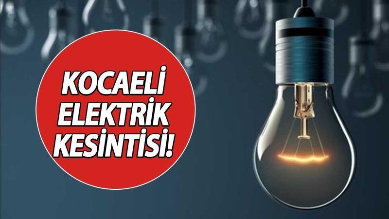 12 Eylül 2021 Kocaeli Elektrik Kesintisi! İşte Kocaeli'de Elektrik Kesintisi Yaşanacak O Bölgeler...