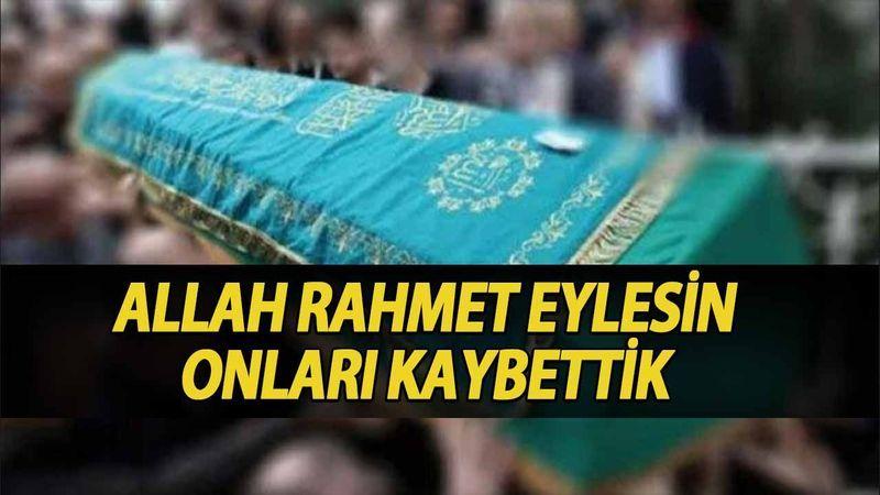 Kocaeli'de bugün vefat edenler (19 Eylül 2021)