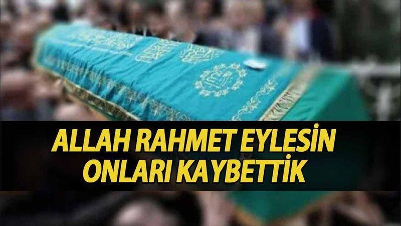 Kocaeli'de bugün vefat edenler (24 Eylül 2021)