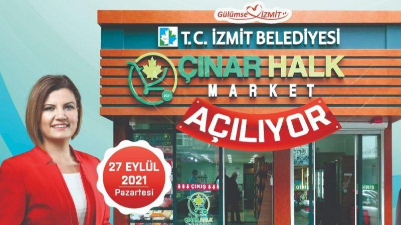 """Market Fiyatlarına İsyan: BİM, A 101, ŞOK ve MİGROS Artık Rakipsiz Değil! İzmit Belediyesi Enflasyona Savaş Açtı: """"Çınar Halk Market"""""""