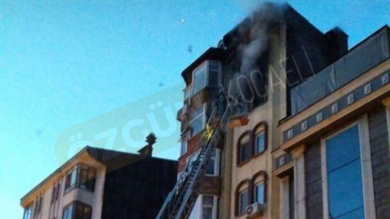 İzmit güne yangınla uyandı 2 kişi dumandan etkilendi
