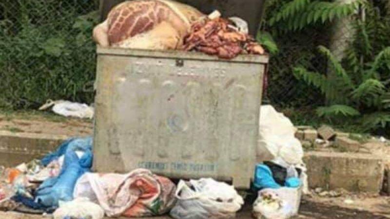 Kurban atıkları sokaklardan toplandı