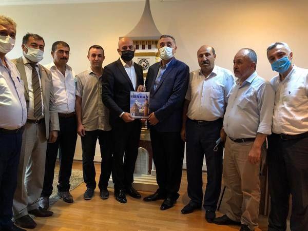 Ahmet Önal İzmit Kent Konseyi Başkanı Erol'u makamında ziyaret etti
