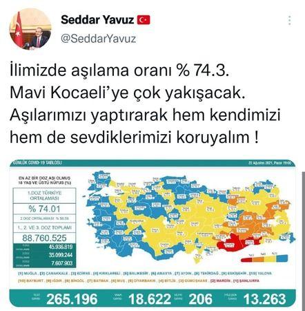 """Vali Yavuz, """"Mavi Kocaeli'ye çok yakışacak"""""""