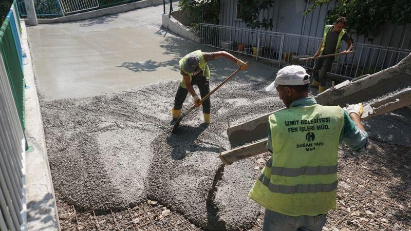 İzmit Belediyesinden 28 Haziran'a yeni beton yol