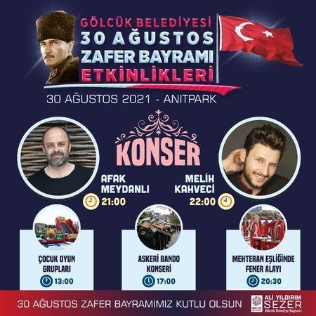 30 AĞUSTOS ZAFERİ GÖLCÜK'TE COŞKUYLA KUTLANACAK