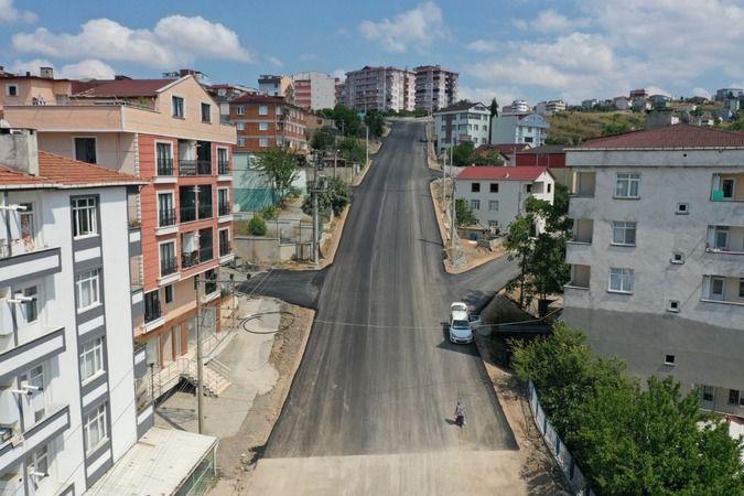 Gebze Fikri Altıokka Caddesi'nde üstyapı çalışması