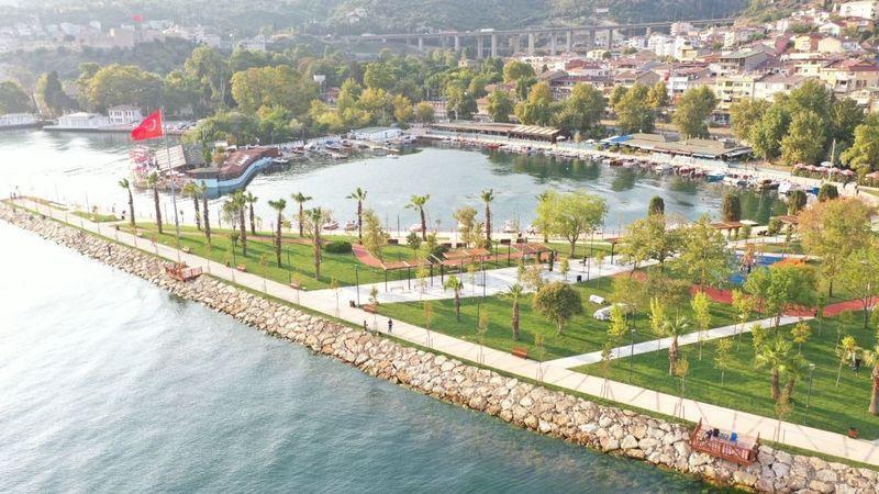 Hereke Sahil Parkı hizmete açıldı