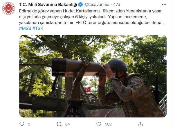 MSB açıkladı: Sınırda yakalandılar