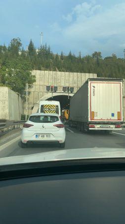 Korutepe Tüneli'nde kaza meydana geldi