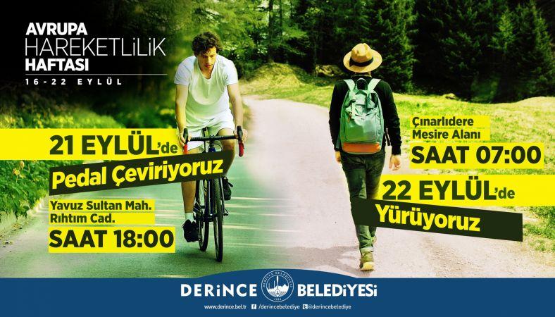 Derince'de Hareketlilik Haftası Etkinlikleri