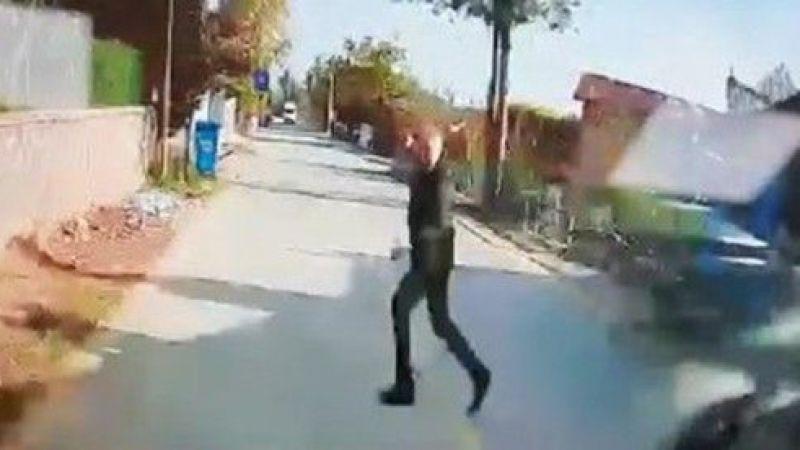 Restoran çalışanının hayatını kaybettiği kaza anı kamerada