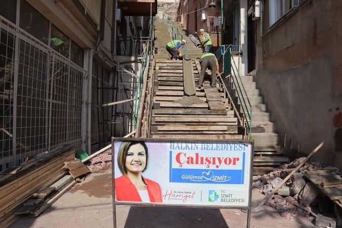 İzmit BelediyesindenDoğan ve Cedit'e yeni merdiven