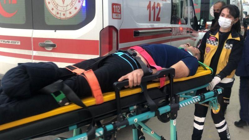 Aracıyla dereye uçtu! 2 kişi yaralandı!