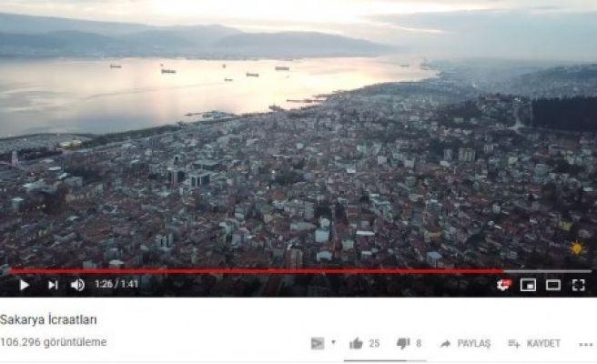 AKP'NİN SAKARYA VİDEOSUNDA KOCAELİ GÖRÜNTÜLERİ