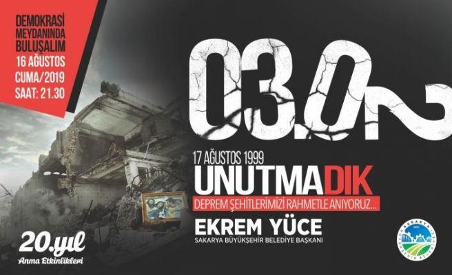 Büyükşehir'den deprem anması