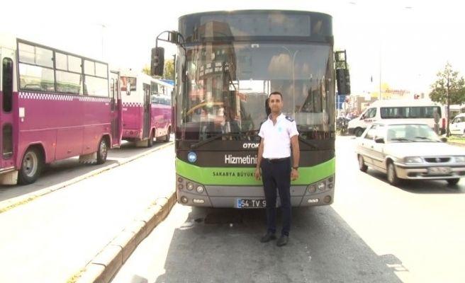 Yardımına otobüs şoförü koştu